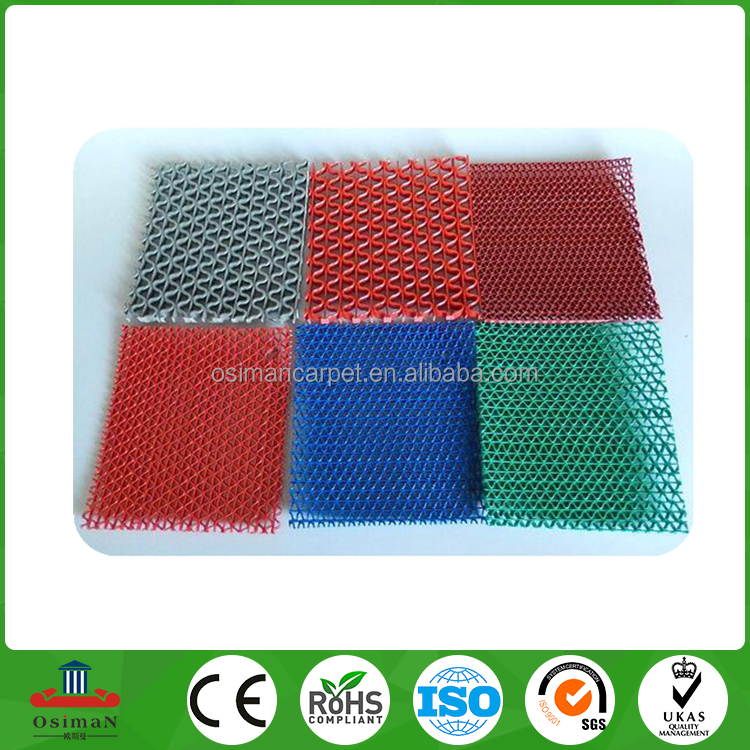 Top quality PVC S mat 5mm bathroom use