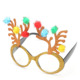 Shiny Reindeer Decorative Christmas Decoration Gifts Party Costume Glasses Novelty Sunglasses New Year Party Supplies