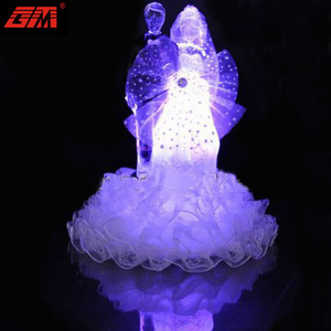 Customized new design led lighted color changing glass wedding gift