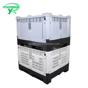 Heavy Loading Pallet Boxes Plastic Storage Foldable Bins Collapsible Bulk Container with Lid