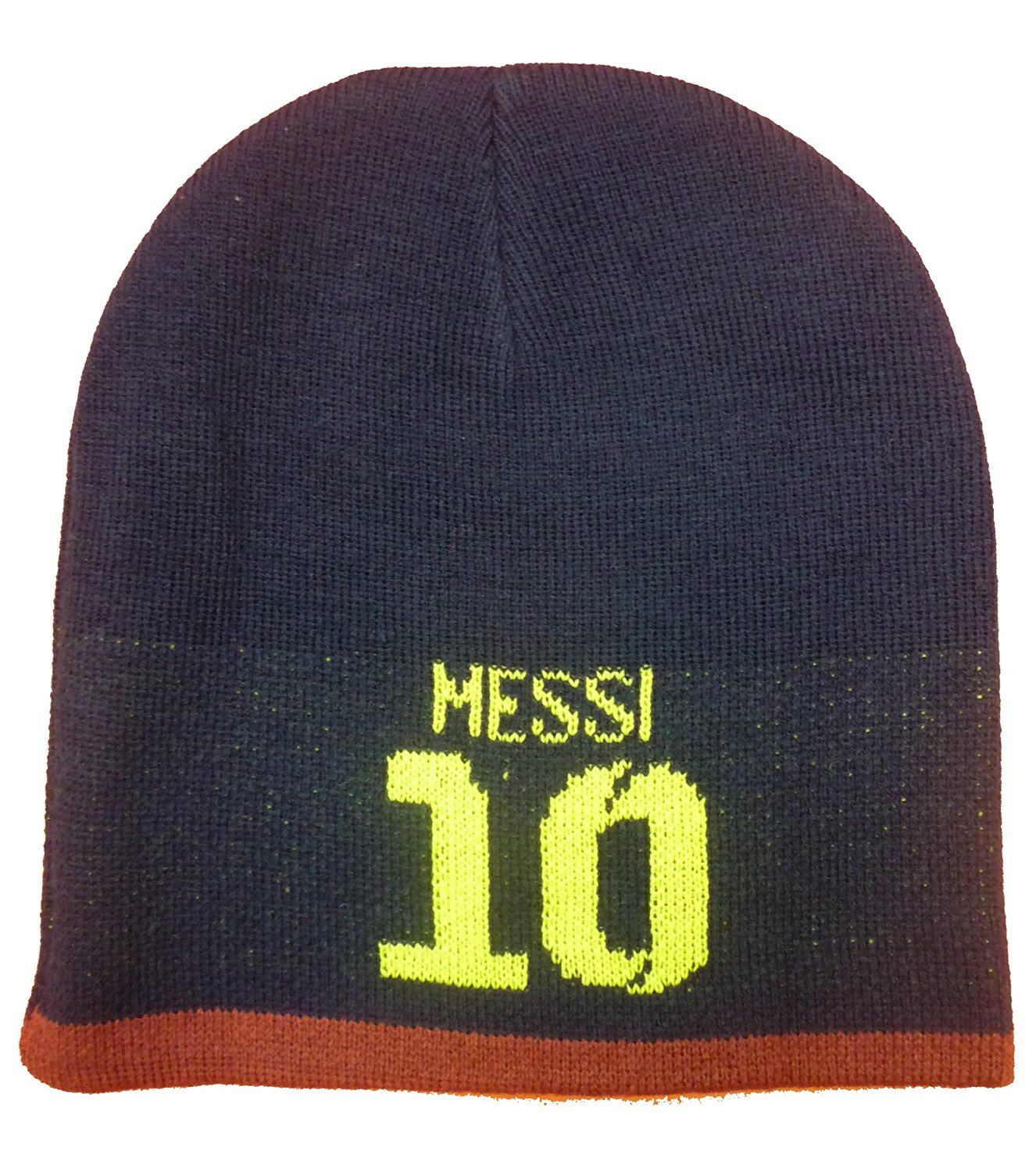 f13a123ec47 Get Quotations · Official Licensed FC Barcelona MESSI 10 Beanie Hat -  Licensed FC Barcelona Merchandise
