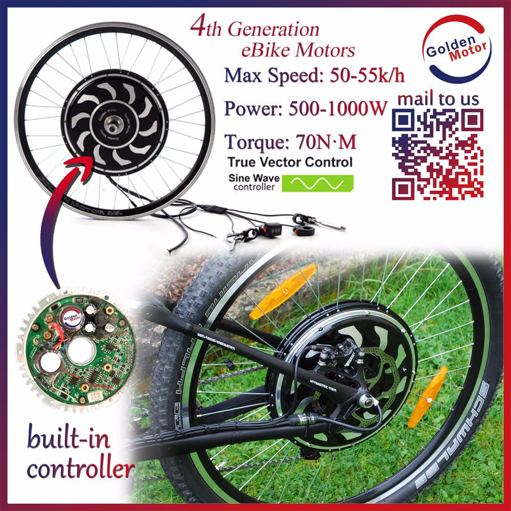 New Magic Pie4 /Smart pie 4 /New vector Sine wave 24V/36V/48V 250W/500W/1000w electric bicycle bldc motor