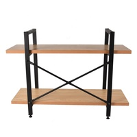 Custom 3 tier wood display stand storage shoe moveable book house display rack wood&metal display shelves