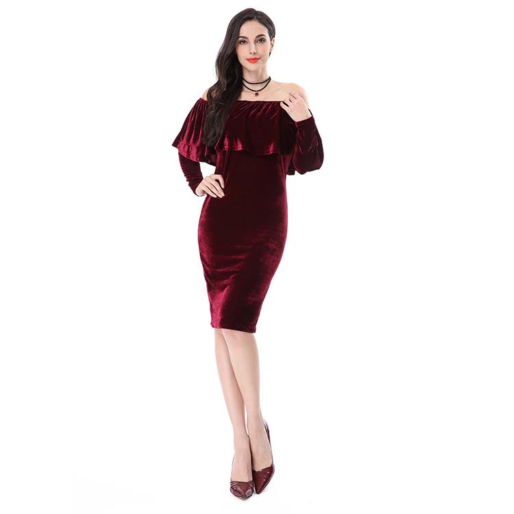 2f5b59fbb8 2017 Designer Slim Adult Lady Women Cocktail Sexy Girls Tube Party Dress