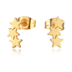 Wholesale Costume Jewelry Metal Gold Plated Decoration Korea Fashion Women Star Stud Earring