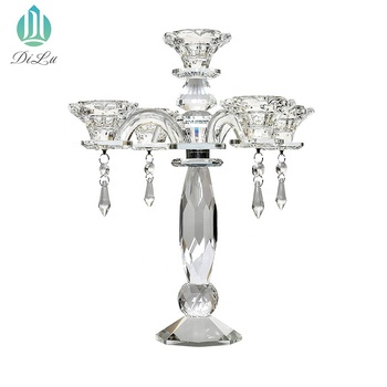 Beautiful 65cm Height Cheaper Tall Wedding Candle Holder 3arms 5 Arms 7arms 9arms Crystal Candelabra/crystals table weeding