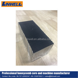 aluminum honeycomb core slices for stone honeycomb composite panels, architectural facade used