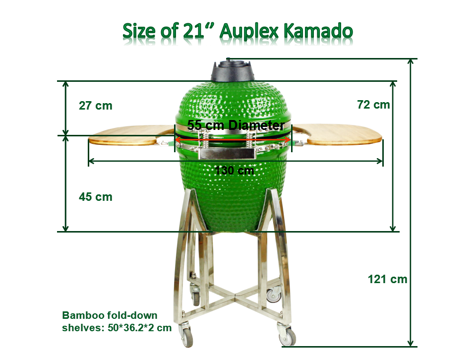 Super Wholesale Auplex XL Garden Charcoal Kamado 21 inch Ceramic KX-98
