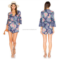 OEM design cover up full printed sexy girl high quality beach dress beach wear