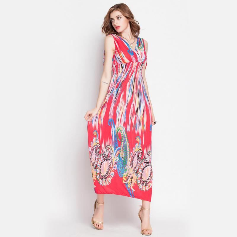 Buy Womens Summer style Dresses 2015 new Boho Empire V-neck Maxi Dress  Vestido De Festa Women Long Dress Desigual Beach Dress in Cheap Price on  m.alibaba. ... b2bfaa0b4e32