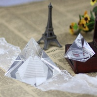 clear glass triangle souvenir birthday gift crystal ornaments