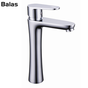 Guangzhou sanitary ware Classical Industrial Brass Chrome Hot Cold Water basin faucet taps