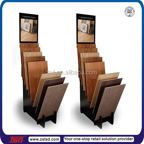 Tsd w775 custom wood laminate flooring display stand for Laminate flooring displays