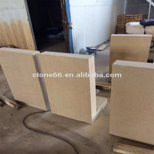 yellow wooden wave sandstone,yellow stone,sandstone,China sand stone