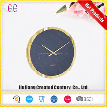 Wholesale promotional hand craft natural black the quartz wall clock