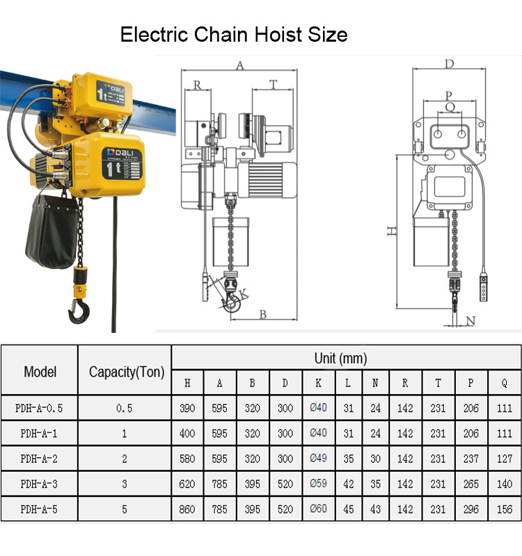 Electric Chain Hoist With Oil Bath Lubrication System