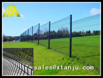 6-8 Feet High Black Welded Wire Fence Mesh Panel - Buy Black Welded ...