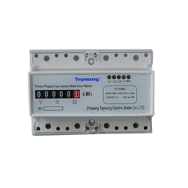 3 Phase 4 Wire Kwh Meter Din Rail Energy Meter Electronic Meter Smart Electric Meter