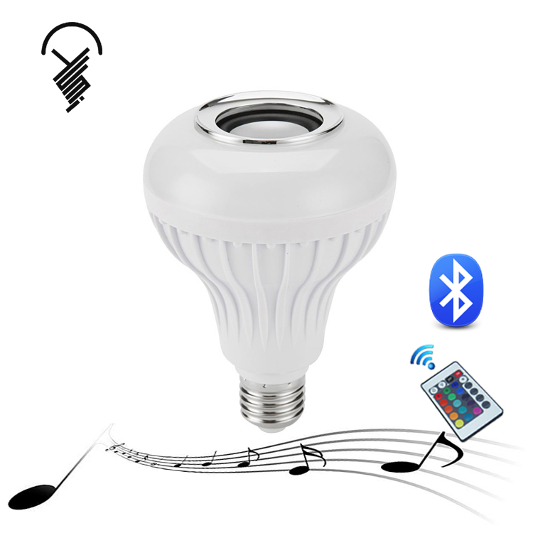New product E27 Wireless Bluetooth Smart Music led light <strong>bulb</strong> with speaker