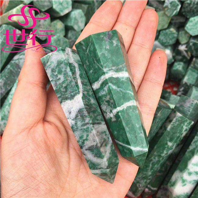 natural wand point brazilian green quartz polished crystal prisms for sale