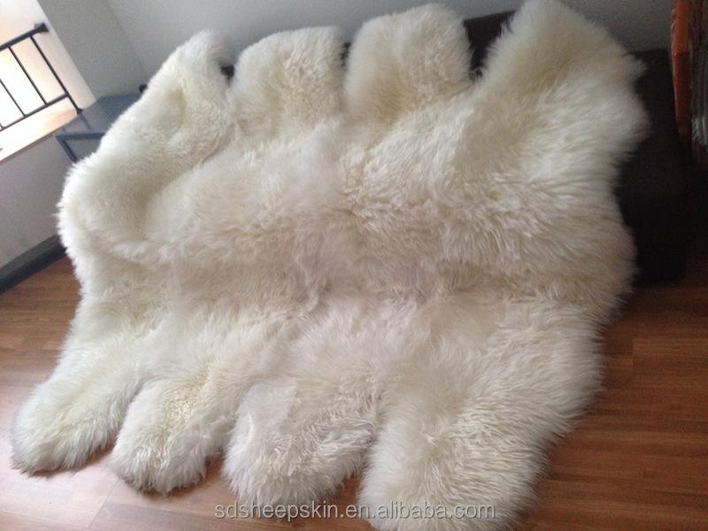 Bottom Price Double Sheepskin Rug Machine Washable Carpet