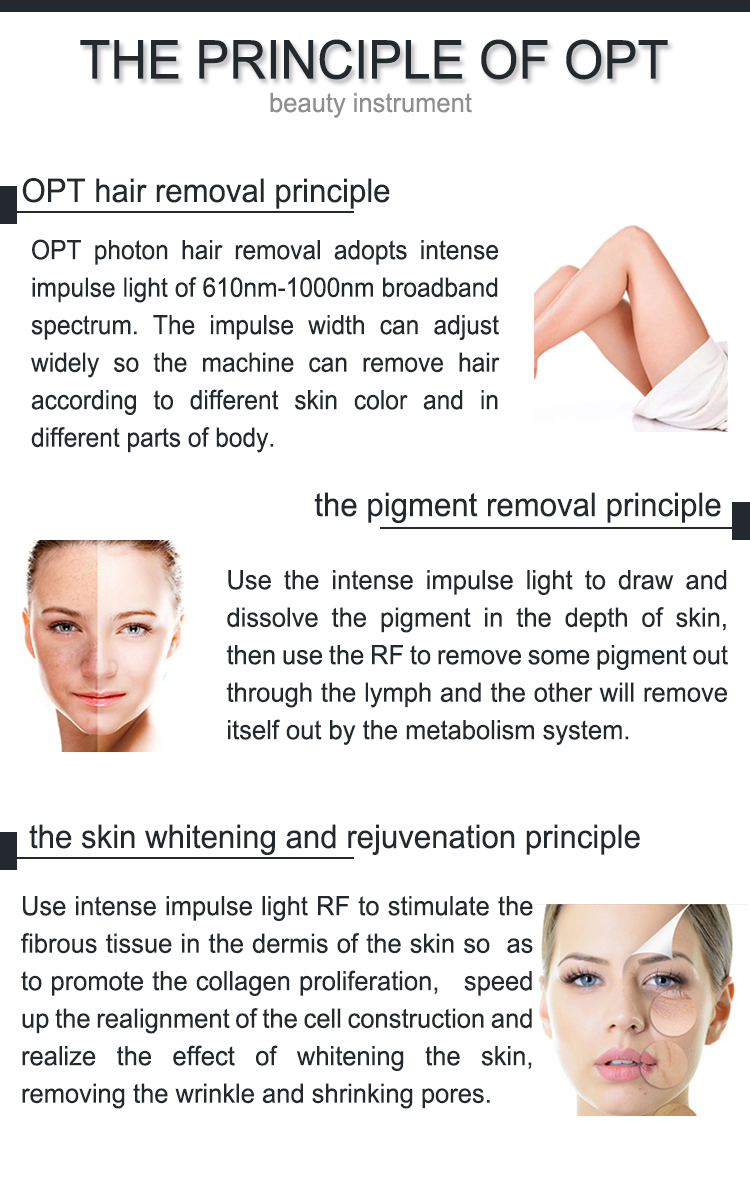 Perfect Quality opt shr wrinkle removal ipl vs laser hair effectiveness pigment machine with great price
