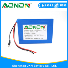 OEM 24 v 20ah 18650 Rechargeable Lithium ion Battery Pack for ATV