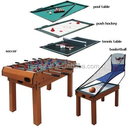 Best Selling Cheap Indoor Sports 5 In 1 Functions Pool Table Soccer Table  Basketball Games MDF