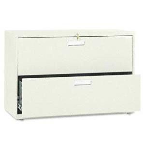 """Hon - 600 Series Two-Drawer Lateral File 42W X 19-1/4D Putty """"Product Category: Office Furniture/File & Storage Cabinets"""""""