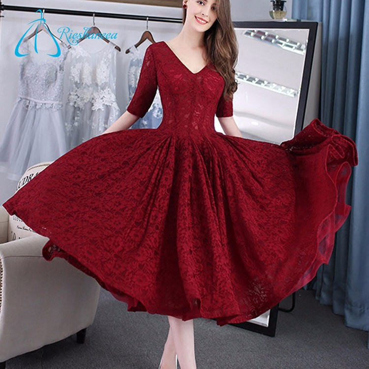 Red V Neck Prom Dress, Red V Neck Prom Dress Suppliers and ...