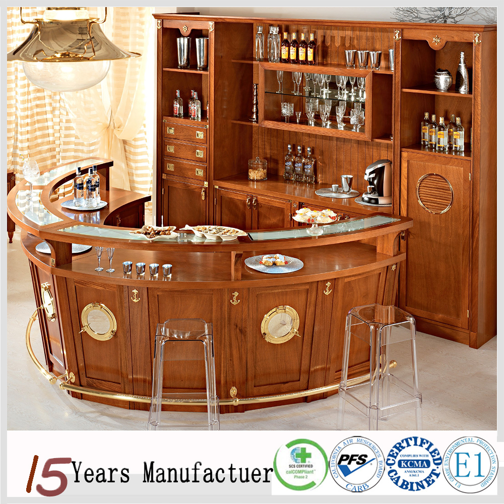 China RTA Solid Wood Bar Cabinets For Sale