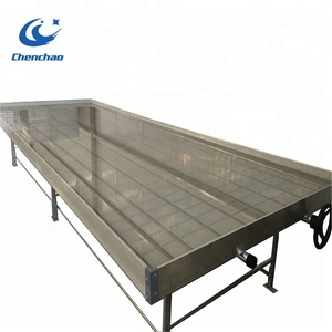 greenhouse hydroponics 4x8ft ebb and flow metal stand rolling bench