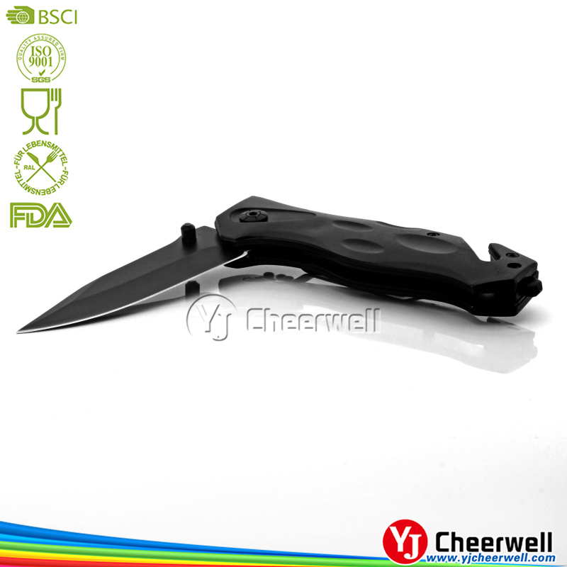 best quality Outdoor oxidation black Folding hunting pocket knife knifes