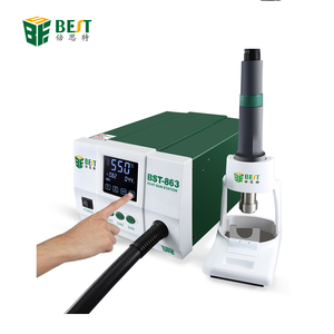 BEST 863 Best Quality High Power 1200W Digital Touch Screen Display Hot Air Heat Gun SMD Rework Desoldering Station