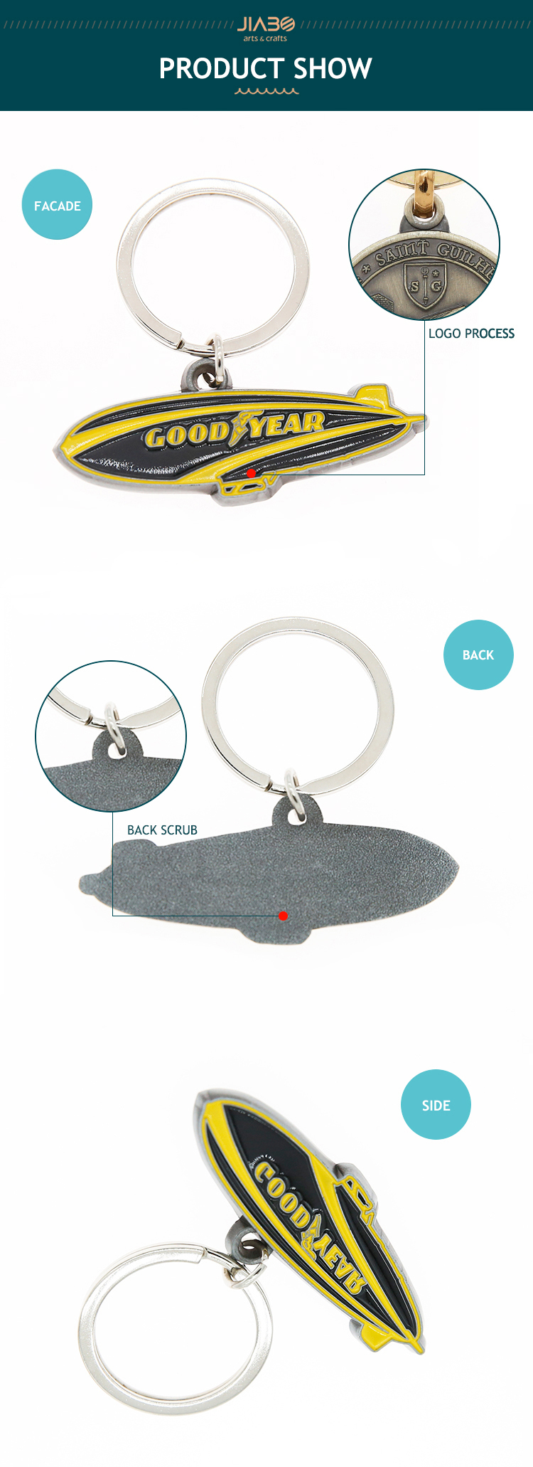 Wholesale custom cheap metal enamel key chain