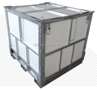 collapsible galvanized iron metal package container box