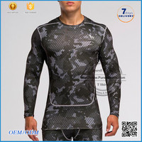 2016 summer Dye solid color for long sleeve rash guard/men compression sport wear