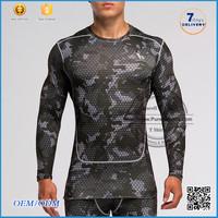 2016 summer Dye solid color for long sleeve rash guard/men compression sport wear