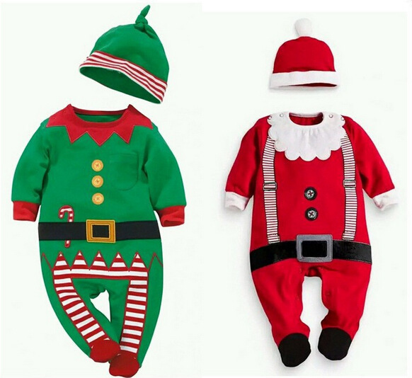 a2ab9336f Get Quotations · 2015 Christmas childrens clothes Santa Claus style Baby  Boy clothing long sleeve jumpsuit clothes fit Neonatal