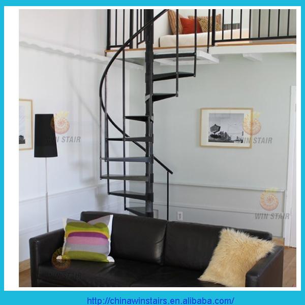metal interior negro pintura escalera de caracol para espacios pequeos con metal pasamanos