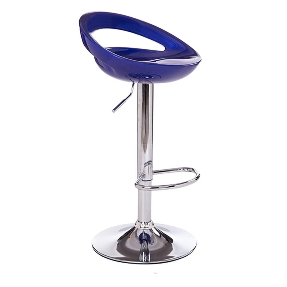 Decorative stool Creative Bar Chairs, Shopping Counter Chairs Bar Chairs Household High Chair Hollow Backrest Front Desk Chair Lift Dining Table High Stool 60-80cm (Color : #4)
