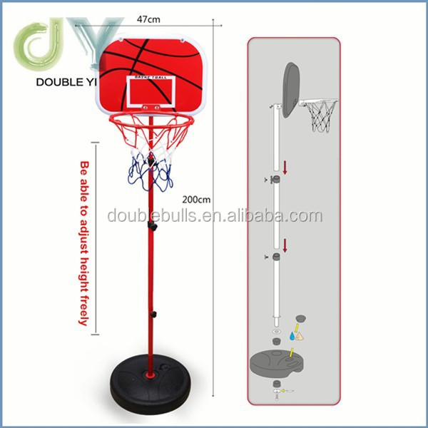 Custom Height Adjustable Portable Basketball System, 44 Inch Backboard movable basketball stand