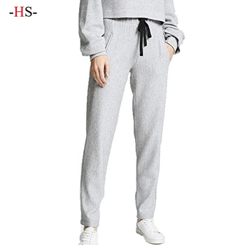 Wholesale Cotton Polyester Women Casual Work Pants Cheap Cargo white Trousers for women