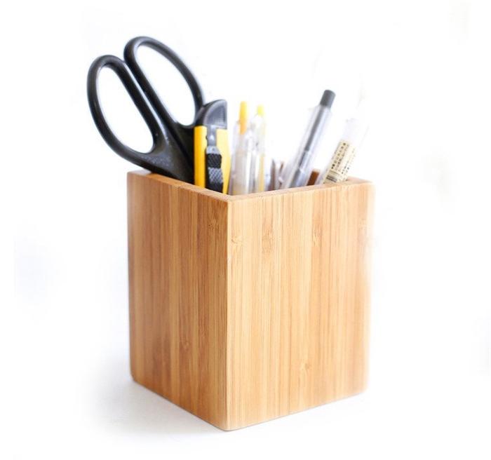 desktop desk decor material holder hexagon diamond pen design store home pencil organizer pot cup brush product metal stationery brass
