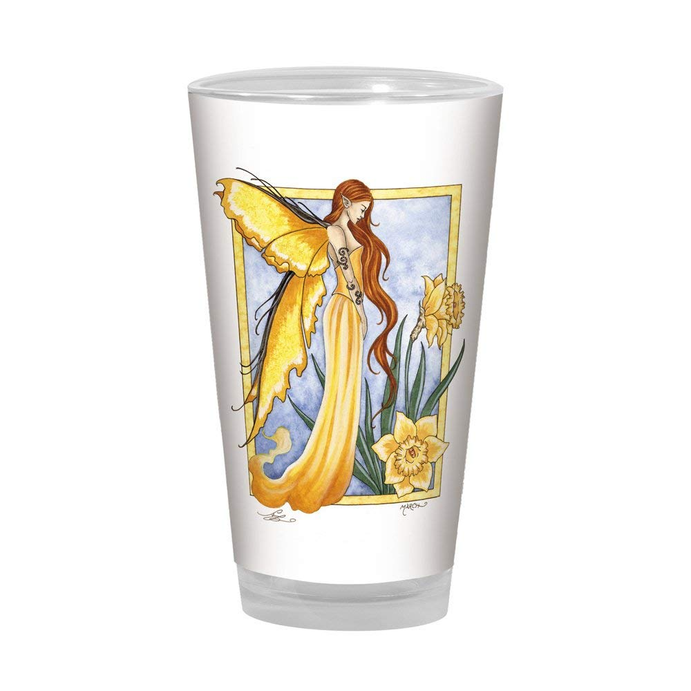 Tree-Free Greetings PG02571 Amy Brown Pint Glass, 16-Ounce, Sweet Daffodil Fairy Artful Alehouse