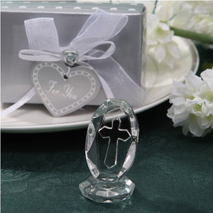 Small Wedding Favors Crystal Cross Standing Baby Christening Gifts First Communion Souvenirs