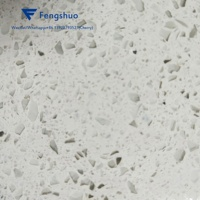 Fengshuo Engineered Stone Bright White Crystal Quartz Slabs