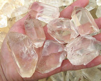 brazilian natural raw quartz rough Rock crystals