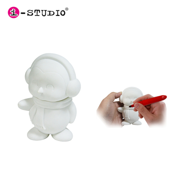 3d DIY make your own design pvc vinyl toys, vinyl character kit factory