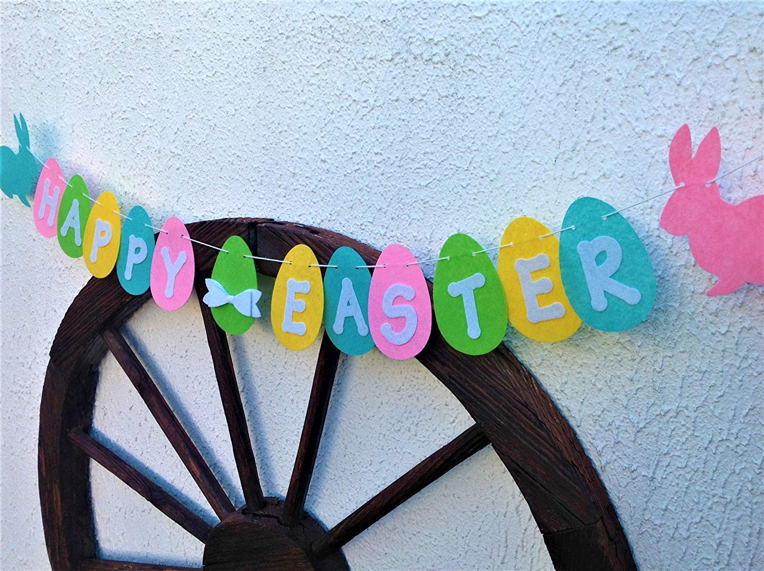 Easter Garland, Happy Easter Felt Banner, Handmade Bunting for Spring, Easter Decoration & Photo Prop